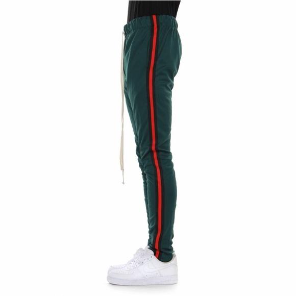 599be1eb004c7e EPTM Pants   Green Red Stripe Gucci Colorway Track   Poshmark